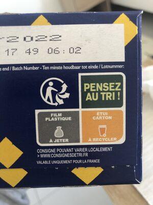 Tartines de Pain Blé Complet ×24 Tranches - Recyclinginstructies en / of verpakkingsinformatie - fr