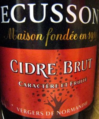 Cidre Brut Ecusson 33 cl - Produit - fr