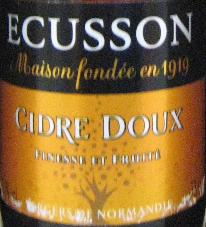Cidre doux Ecusson 33 cl - Produit - fr