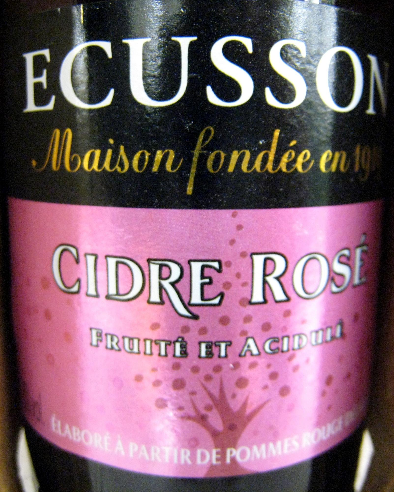 Cidre rosé Ecusson 33 cl - Prodotto - fr