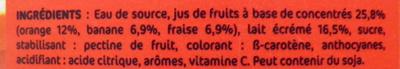 Orange Banane Fraise - Ingredients