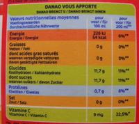 Orange Banane Fraise - Voedingswaarden