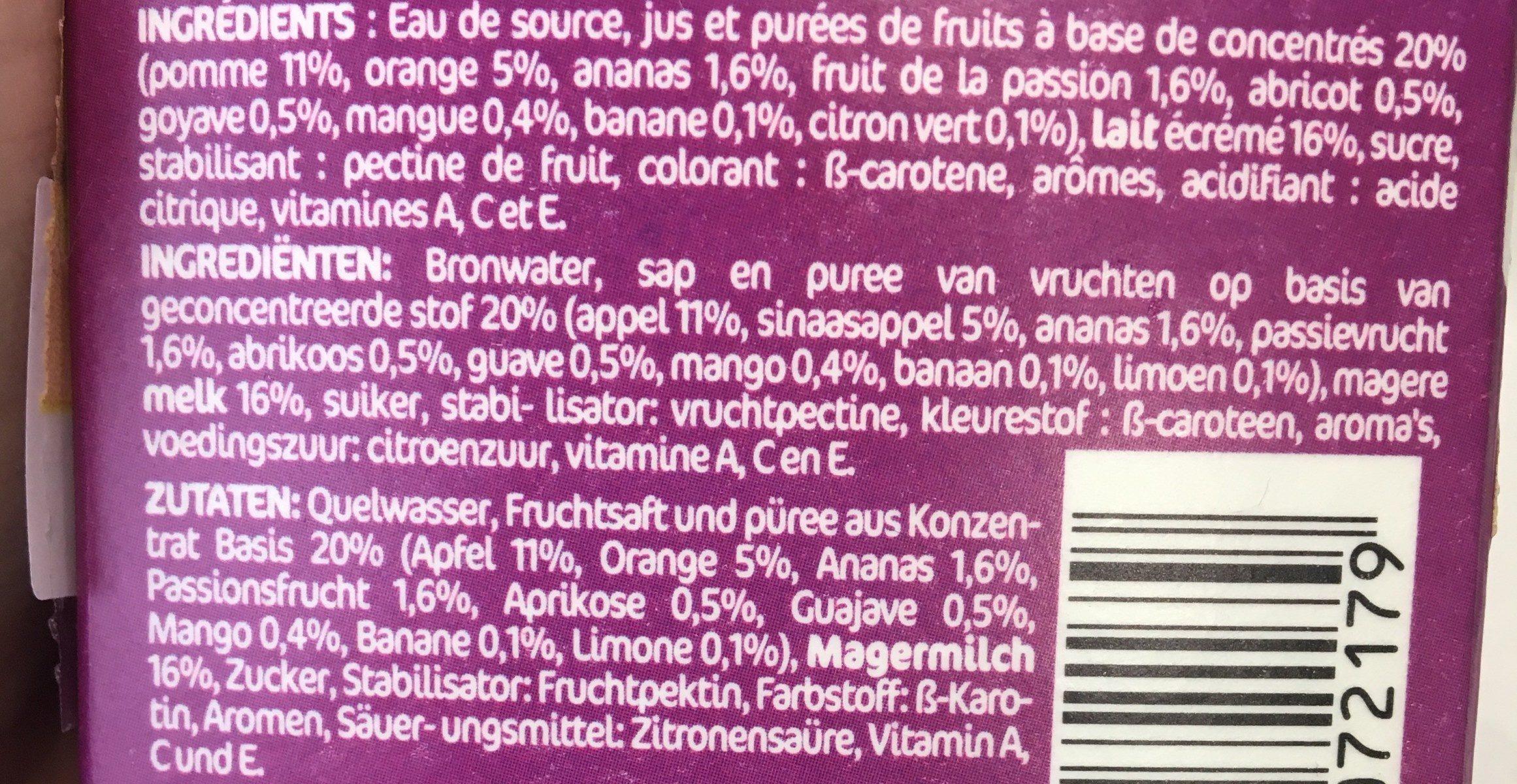 danao multi vitaminé - Ingrédients - fr