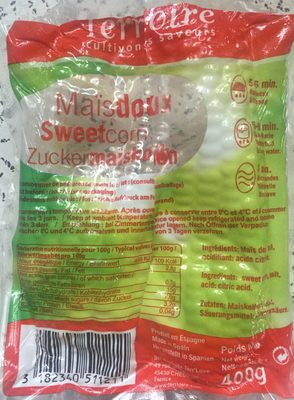Maïs doux - Produkt