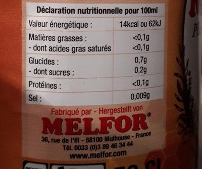 Melfort l'Original - Información nutricional