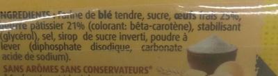 Quatre Quarts Pur Beurre - Ingrediënten