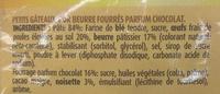 Petits Glazik Coeur Choco-Noisette - Ingredients - fr