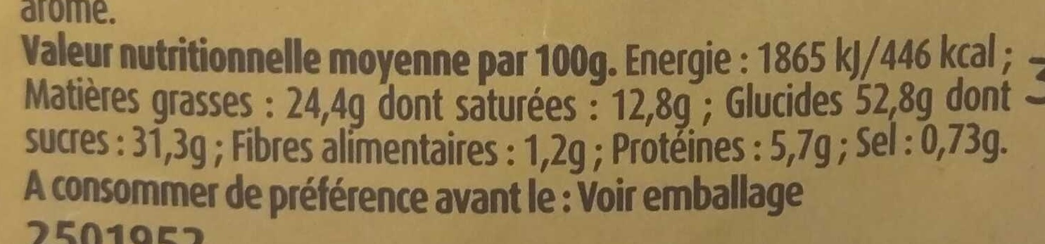 Petits Glazik Coeur Choco-Noisette - Nutrition facts - fr