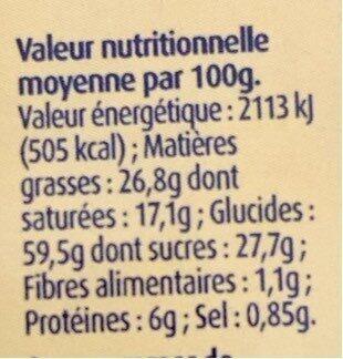 Palets Bretons pur beurre Le Glazik - Valori nutrizionali - fr