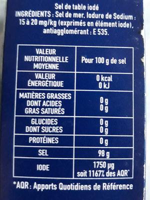 sel de mer la baleine - Ingrédients - fr