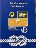 Sel fin iodé - Instruction de recyclage et/ou information d'emballage - fr