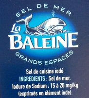 Gros sel iodé La Baleine - Ingredients