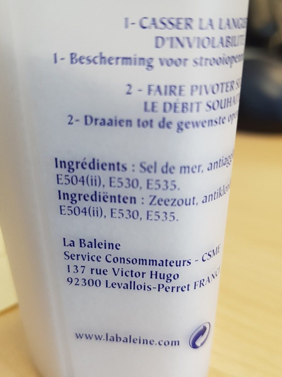 Sel fin la saliere - Ingrediënten - fr
