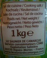 Gros sel de Camargue - Ingrediënten - fr