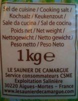 Gros sel de Camargue - Voedingswaarden - fr