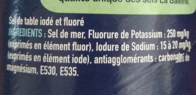 Sel de mer - Ingredients