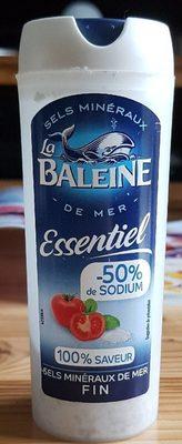 Sel de mer extra fin iodé essentiel LA BALEINE, salière - Produit - fr
