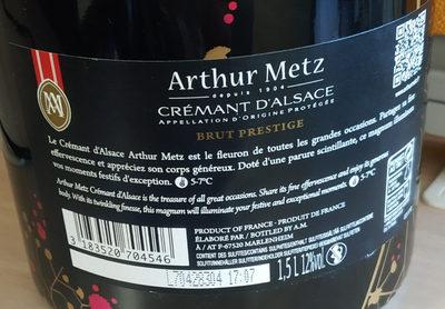 Arthur Metz - Ingrédients