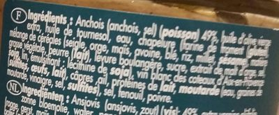 Crème d'anchoïade - Ingredients - fr