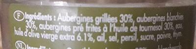 Confit d'aubergines à l'huile d'olive - Ingredients - fr