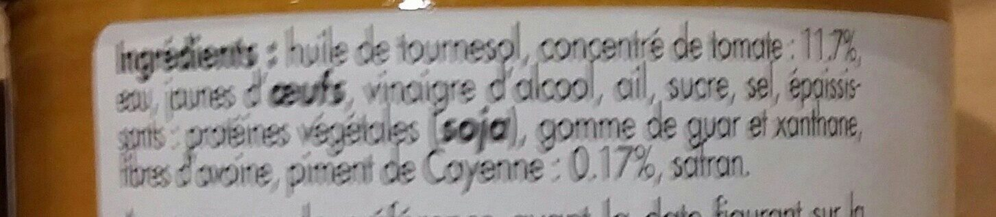Rouille setoise - Ingredients
