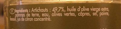 Artichonade - Ingredienti - fr