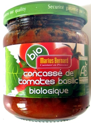 Concassé de tomates basilic biologique - Produit