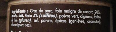 Terrine de foie maigre de canard - Ingredients - fr