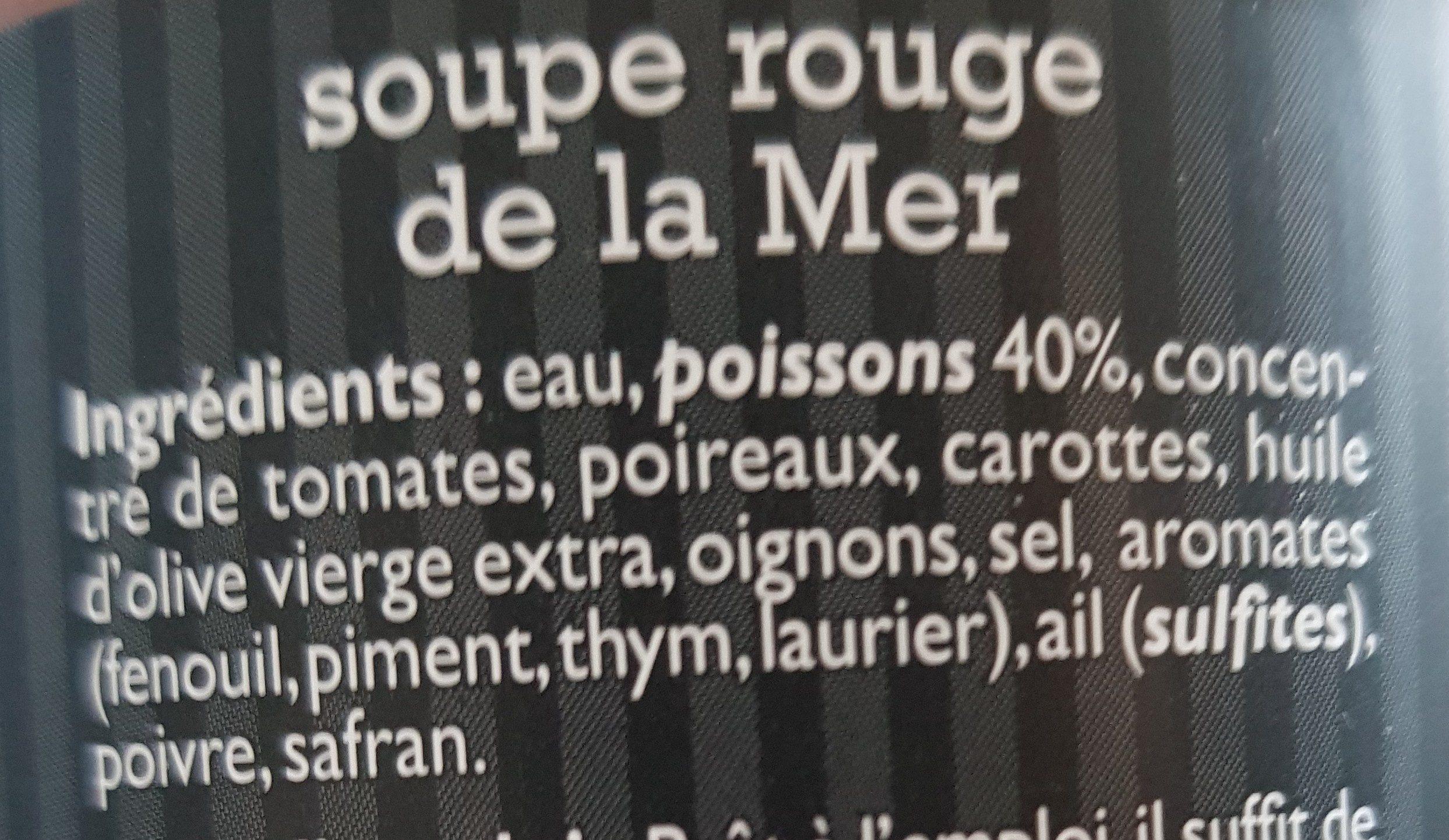 Soupe rouge de la mer - Ingrédients
