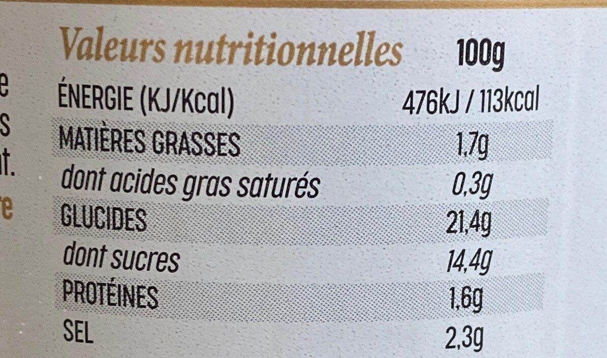 Ketchup gastronomic - Informations nutritionnelles - fr