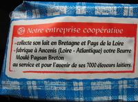 Le Beurre Moulé Doux (82 % MG) - Nutrition facts - fr