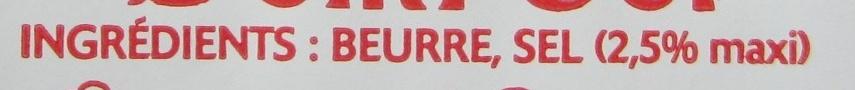 Le Beurre Moulé Demi-Sel (80 % MG) - Ingredienti - fr