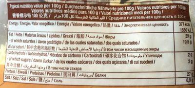 L'emmental français rapé - Informations nutritionnelles - fr