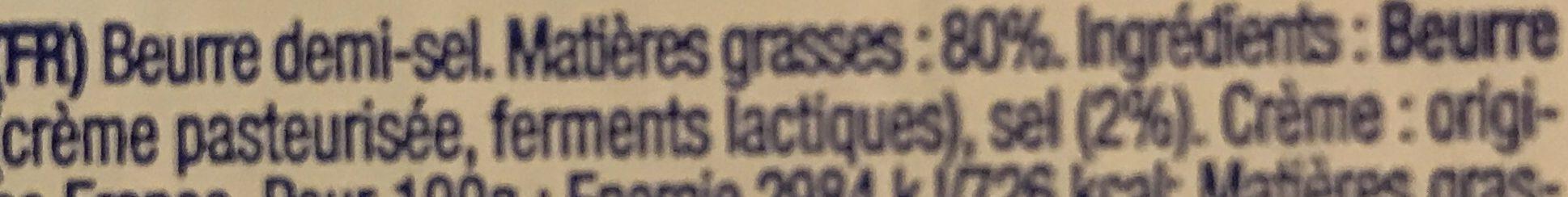 Slightly Salted Butter - Ingrédients - fr