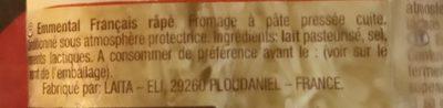 EMMENTAL RAPE - Ingrediënten - fr