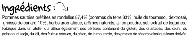 La poêlée Sarladaise - Ingrédients - fr