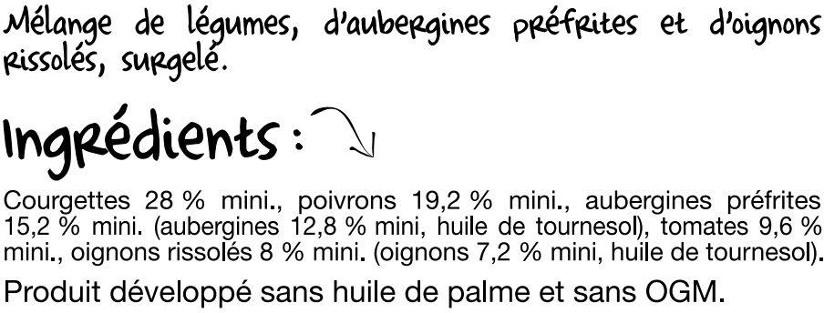 La Brunoise Provençale - Ingredients - fr