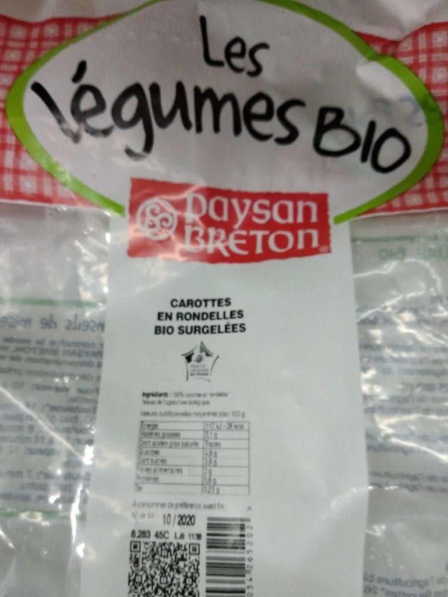 Carottes en Rondelles Bio Surgelées - Produit - fr
