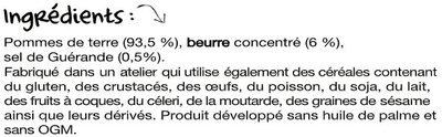 La Primeur de Bretagne - Ingrédients - fr