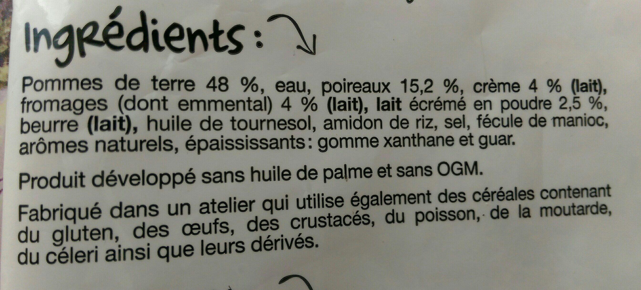 Gratin de poireau et pomme de terre PAYSAN BRETON - Ingrédients - fr