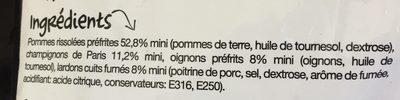 Poêlée Fermière - Ingredients - fr