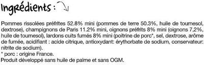 Poêlée Fermière - Ingrédients - fr