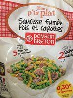 Saucisse fumée Pois et Carottes - Product
