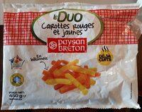 Duo carottes rouges et jaunes - Produit - fr