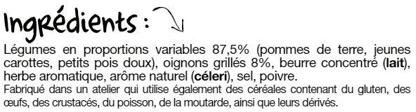 Les légumes à la Printanière - Ingrédients - fr