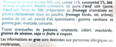 Gratin dauphinois c'est la saison - Ingredients