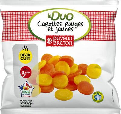 Duo de carottes rouges et jaunes - Produit - fr