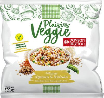 Plaisirs Veggie - Mélange légumes & céréales - Produit - fr