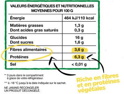 Plaisirs Veggie - Mélange légumes & céréales - Informations nutritionnelles - fr
