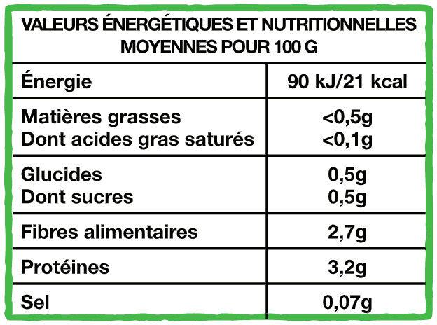 Épinards hachés exquis Bio - Informations nutritionnelles - fr
